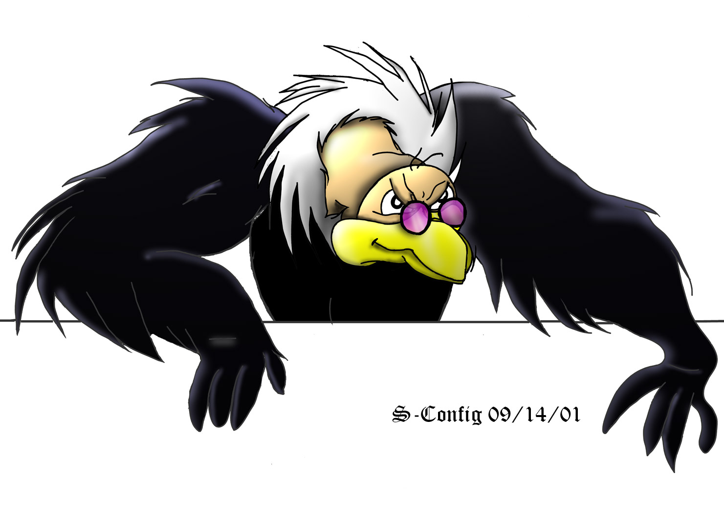Vinney the Vulture 2-d Photoshop complete.