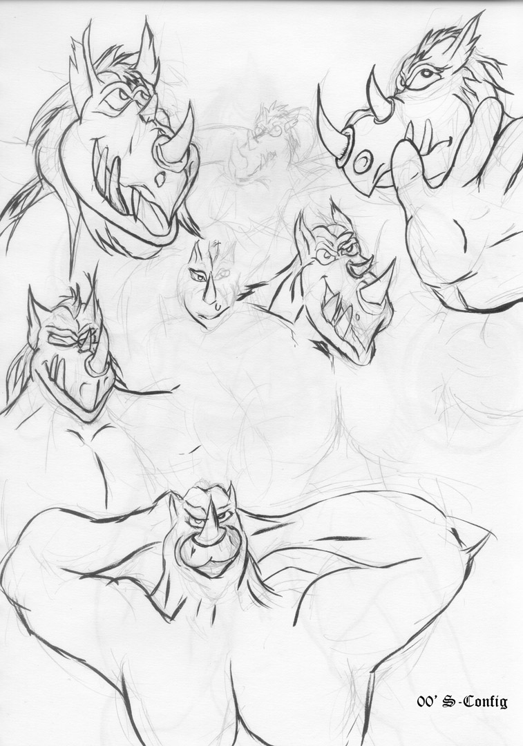 Rhino Heads - Green Sketch Book - Page 21