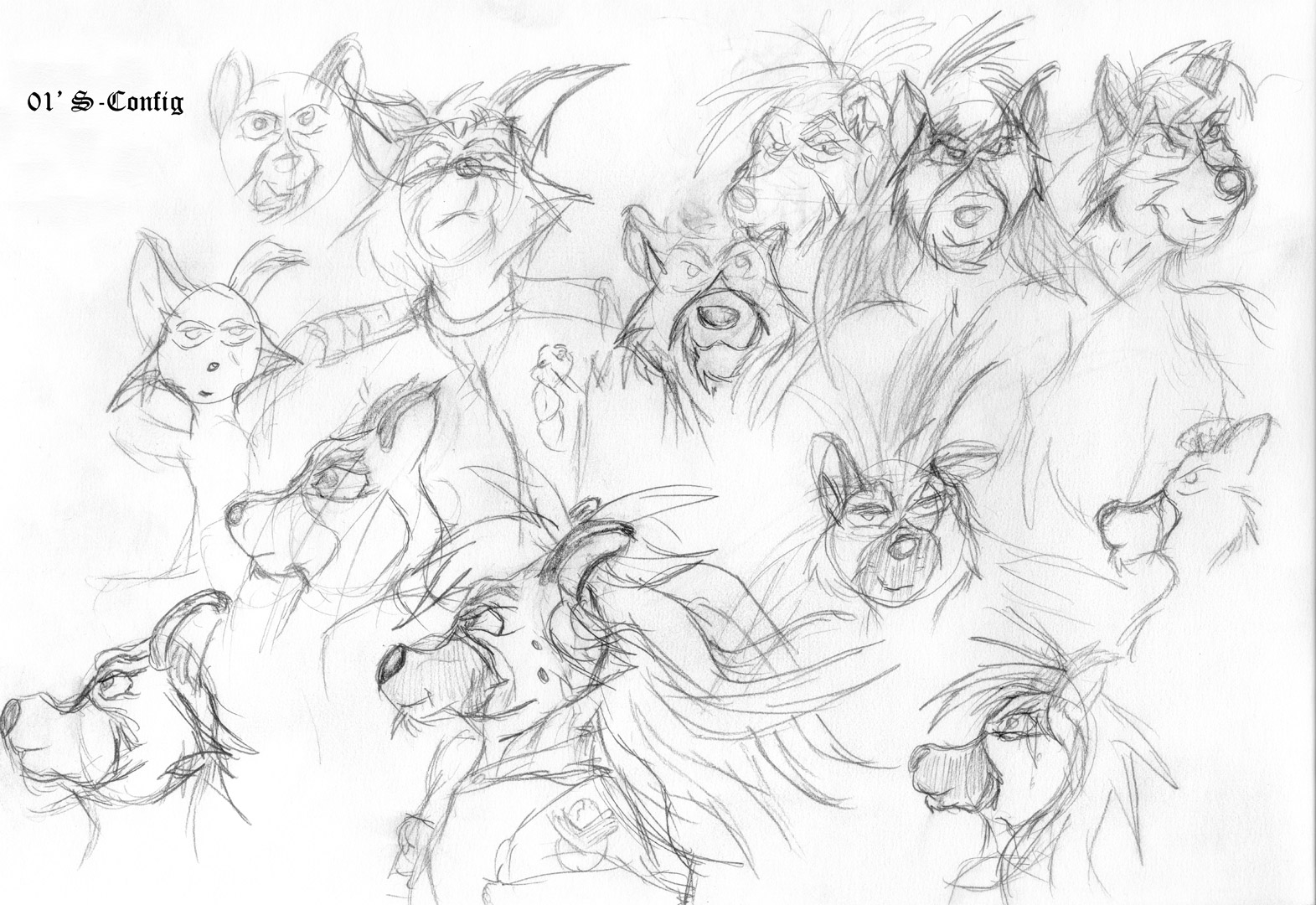 random head sketches of Flay and a few other characters - Sketch.