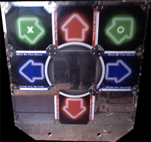 crappy china DDR hard pads for StepMania