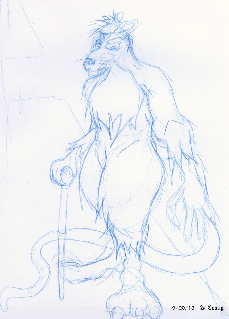 Rat Walking Sketch