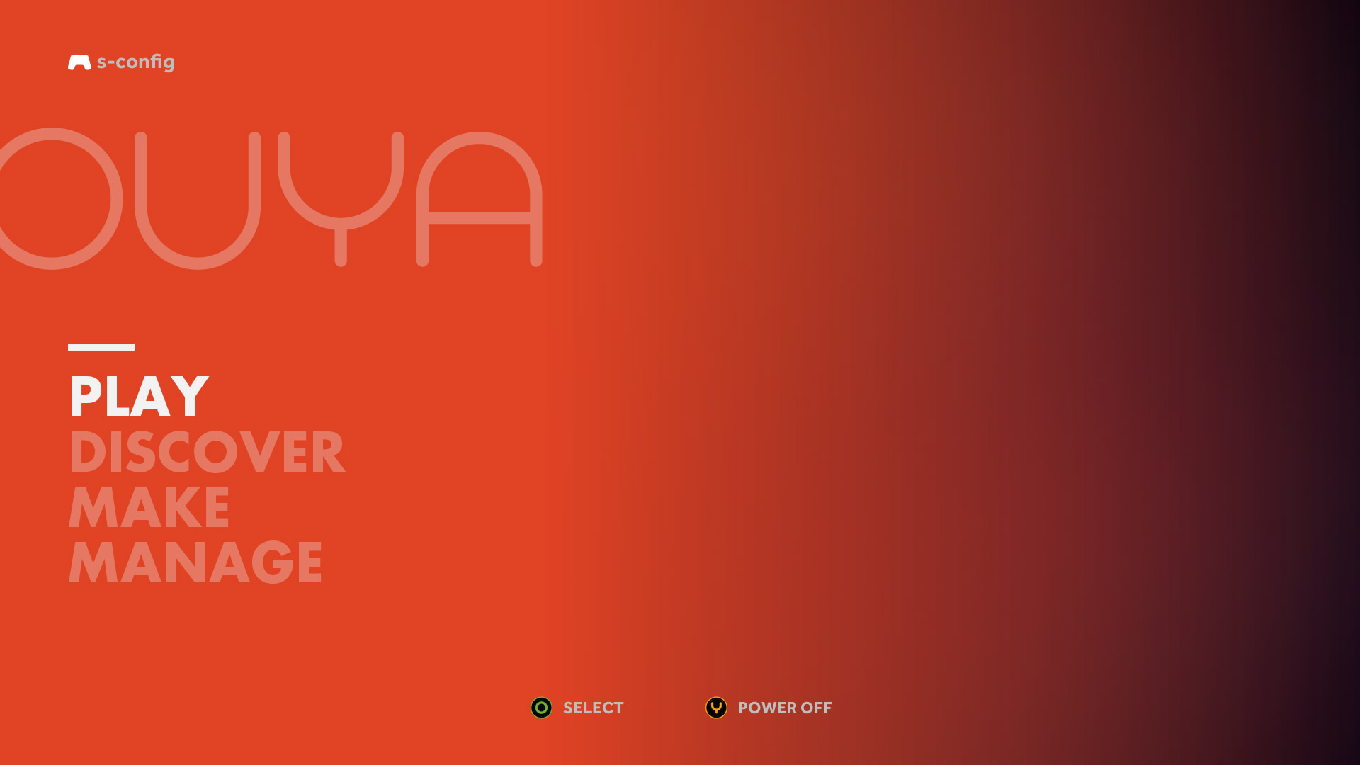 Ouya Launch GUI Menu