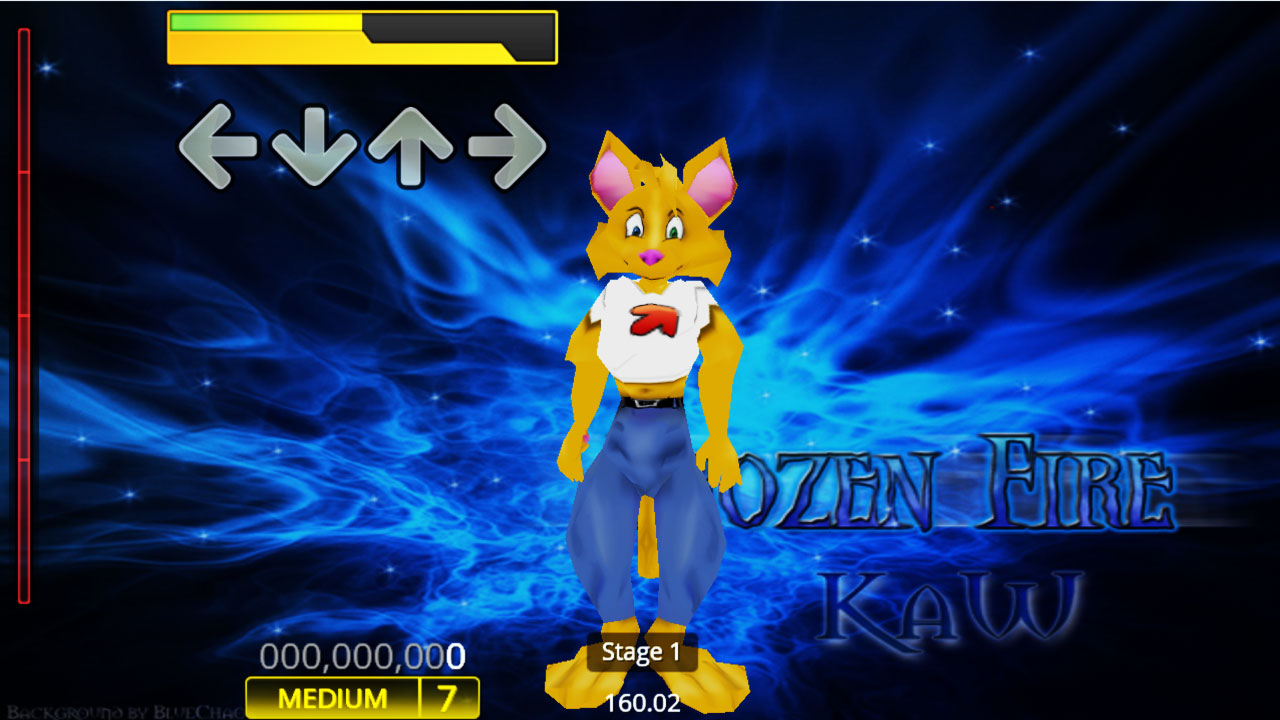 Xela the Cat Stepmania in-game screenshot