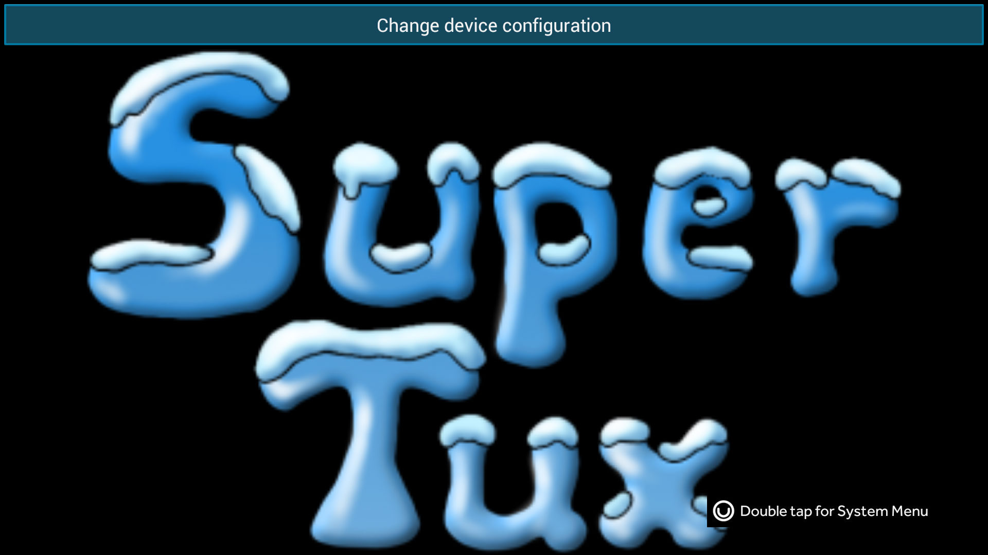 SueprTux for Ouya 01 - Changing the device configuration