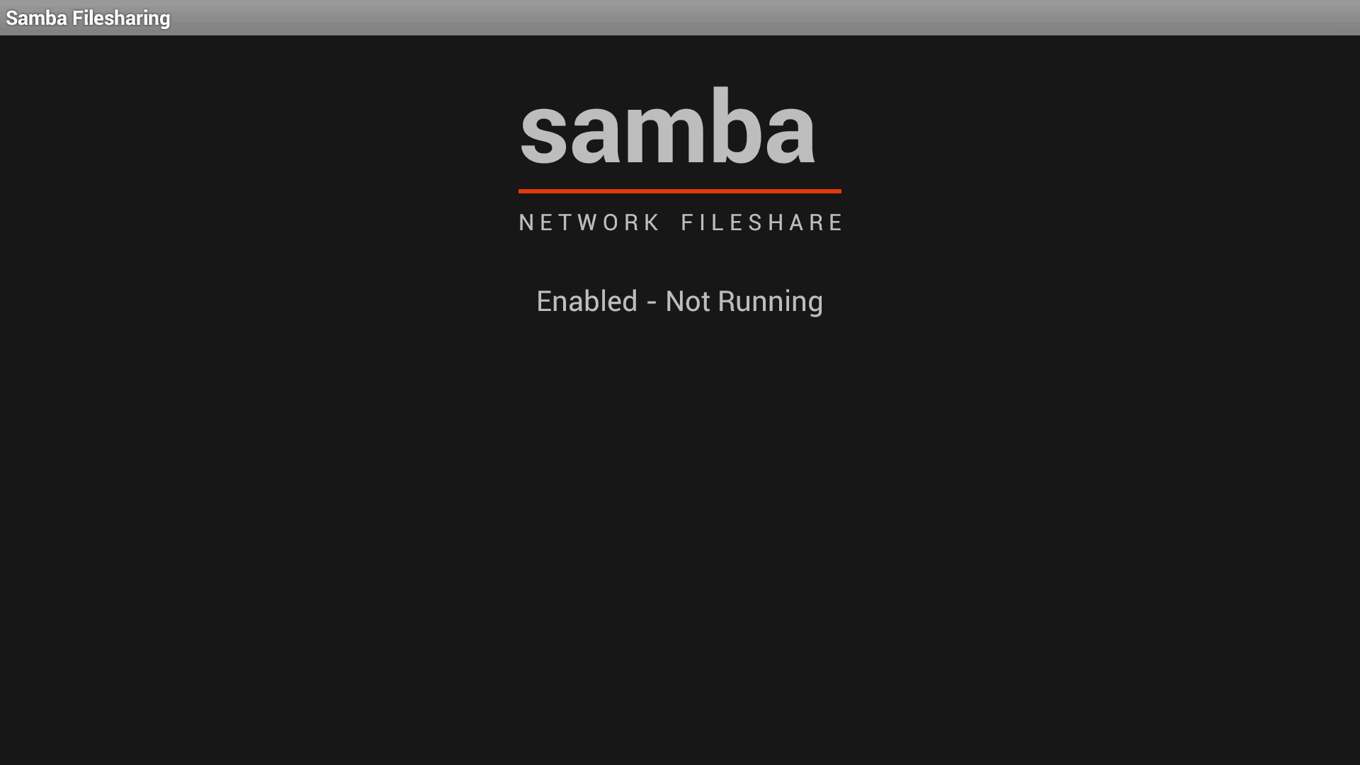 Samba Fileshare - Enabled on the Ouya