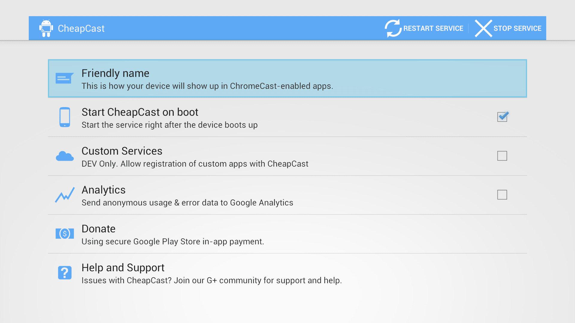 CheapCast-Main-Menu-on-Ouya