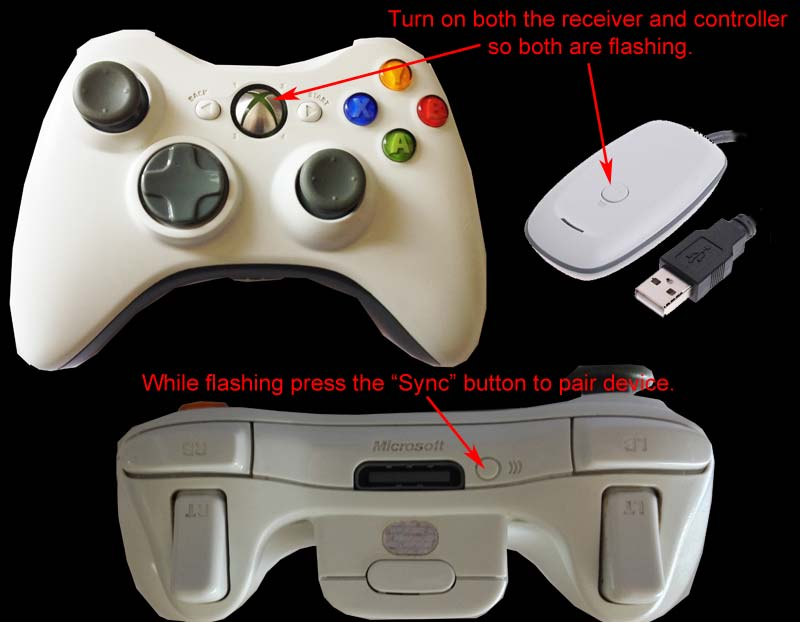 Xbox 360 controllers - Wireless Pairing on PC.