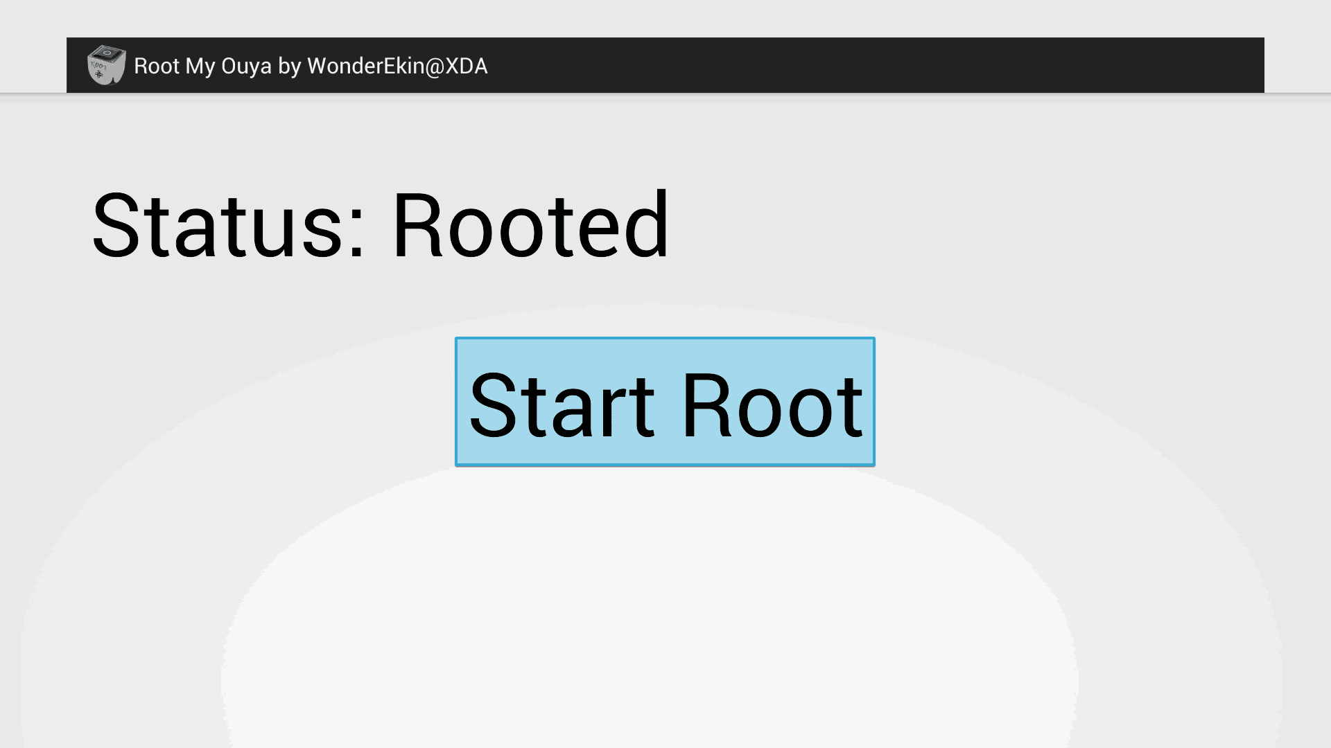 Root the Ouya - Start the Root