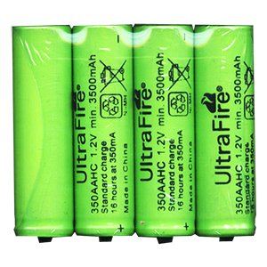 Ultrafire Ultra Fire 3500mAh battery pack of 4
