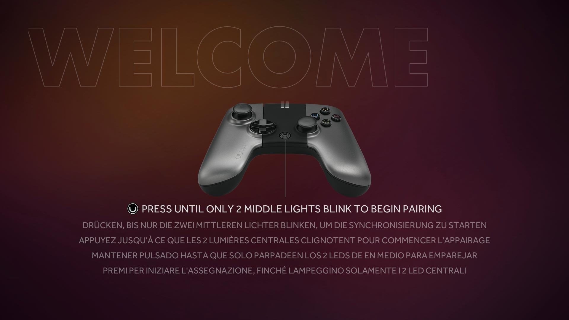 Ouya Welcome Screen