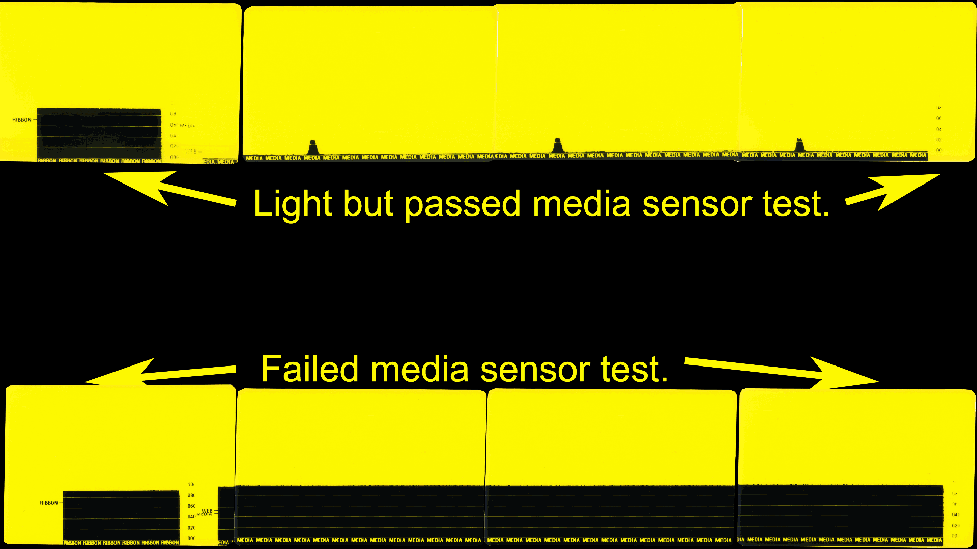 Thermal Printer - Media Sensor Gap test.