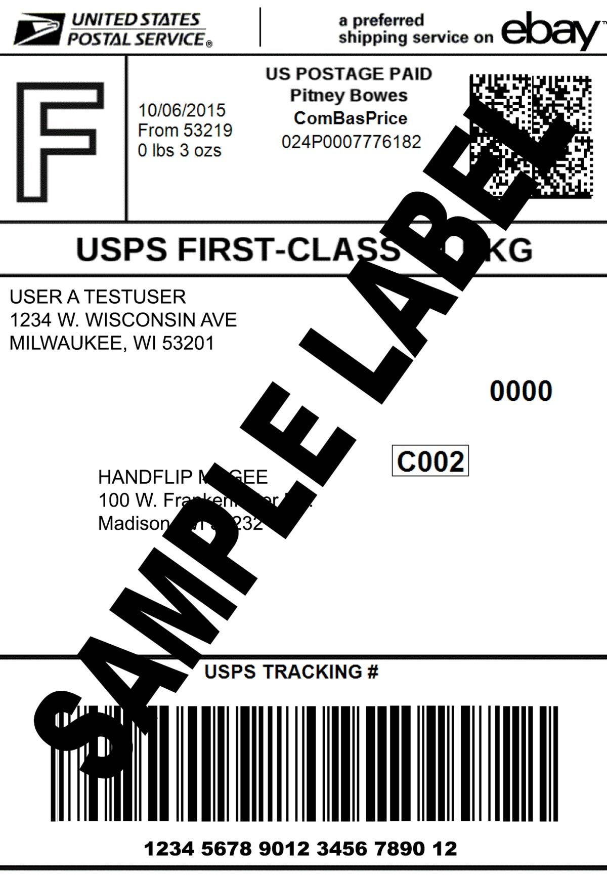 Thermal Printer Test - Good Shipping Label