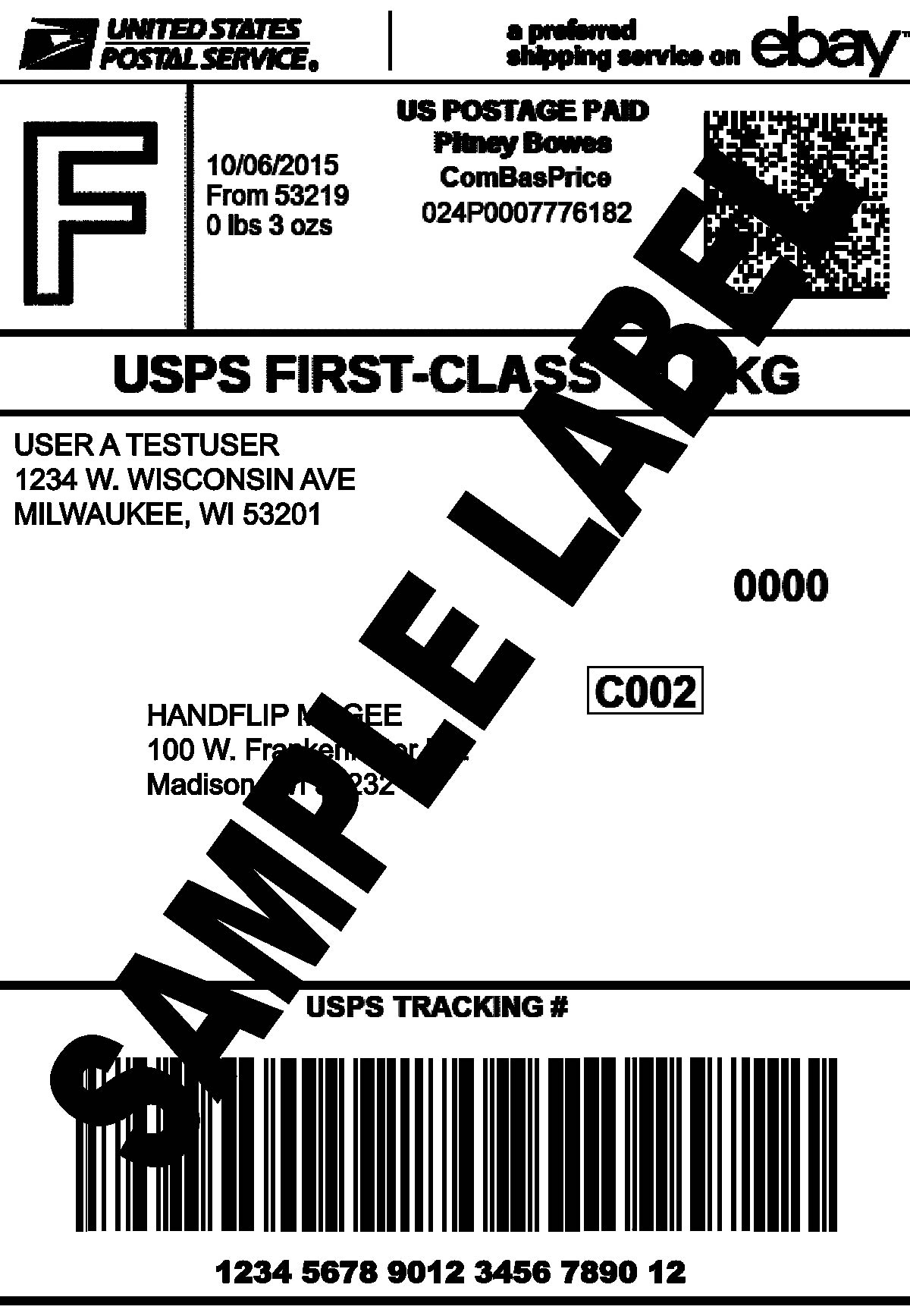 Thermal Printer Test - Shipping Label - Too Heavy