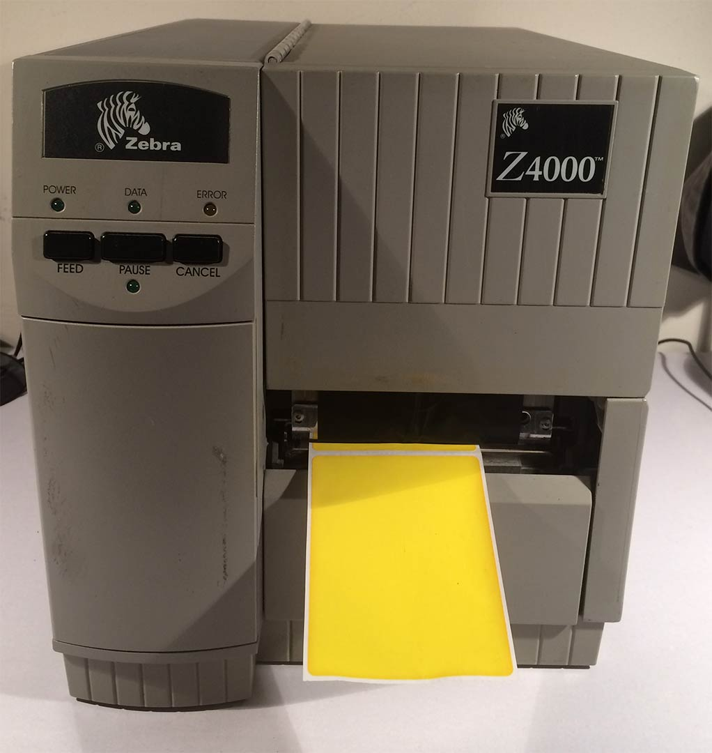Zebra Z4000 Thermal Printer.