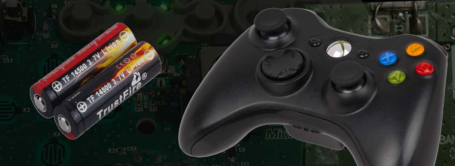Xbox Controller with LiPo battery - title
