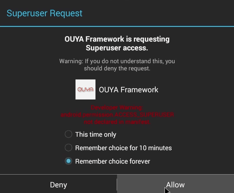 Ouya Launcher - Super User request