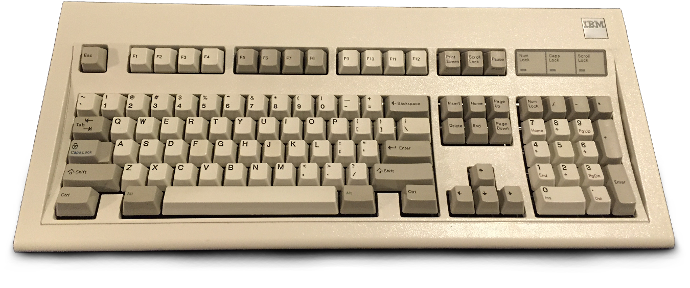 The Famous IBM Model M Mechanical Keyboard
