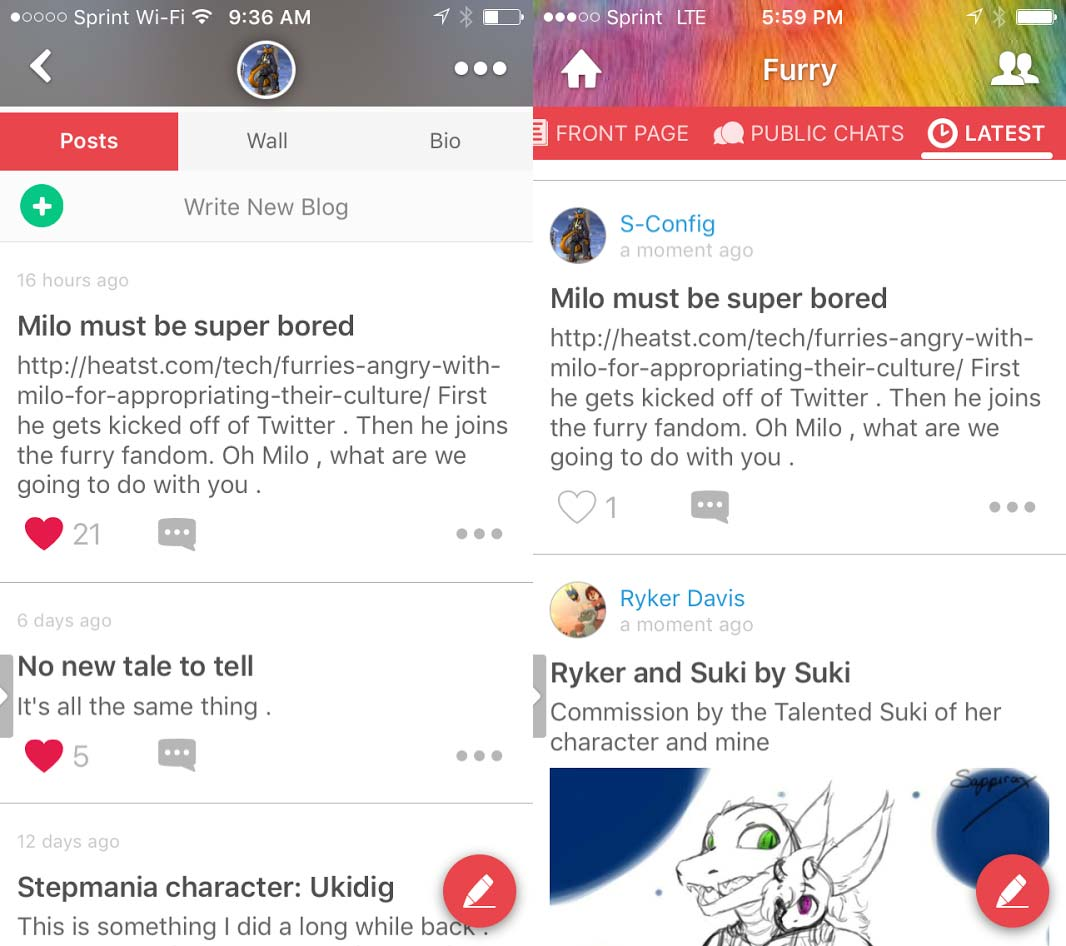 Furry Amino - The Blog Machine.