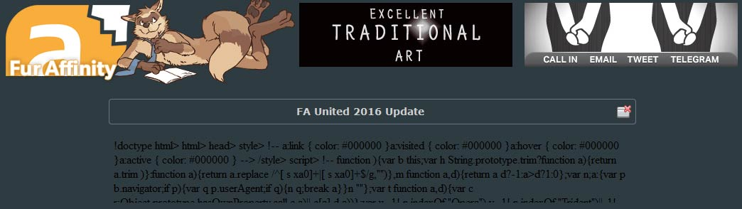 FurAffinity - Now with more Ads!