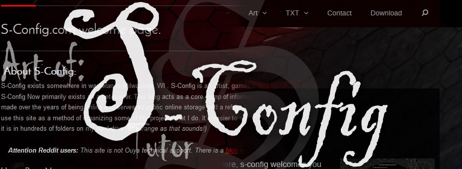 Blog of S-Config Article Title Screen.