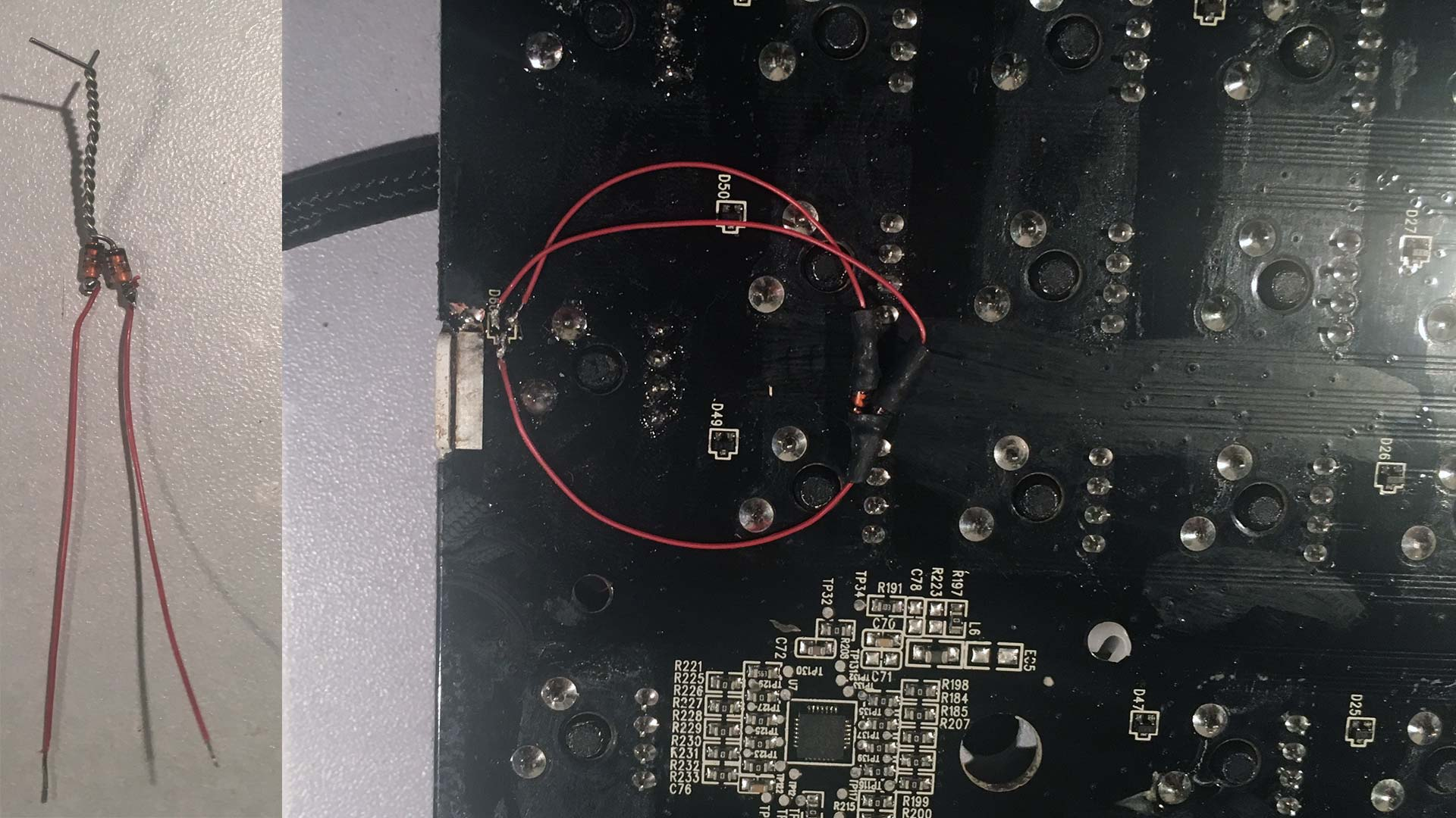 Razer Blackwidow 2014 diassassembly - hack diodes!