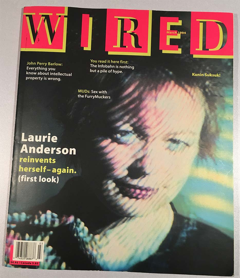 Wired Magazine - March 1994 cover furries