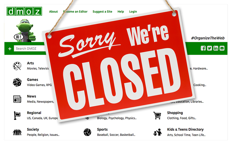DMOZ closed.