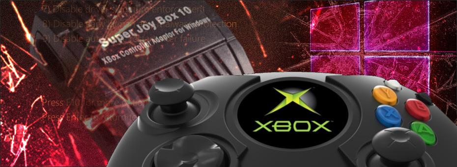 XBCD – Original Xbox Controllers with Win10-8 - S-Config