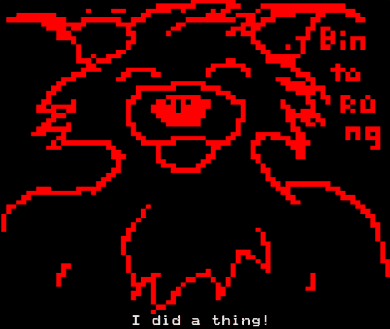 Binturong on Teletext.