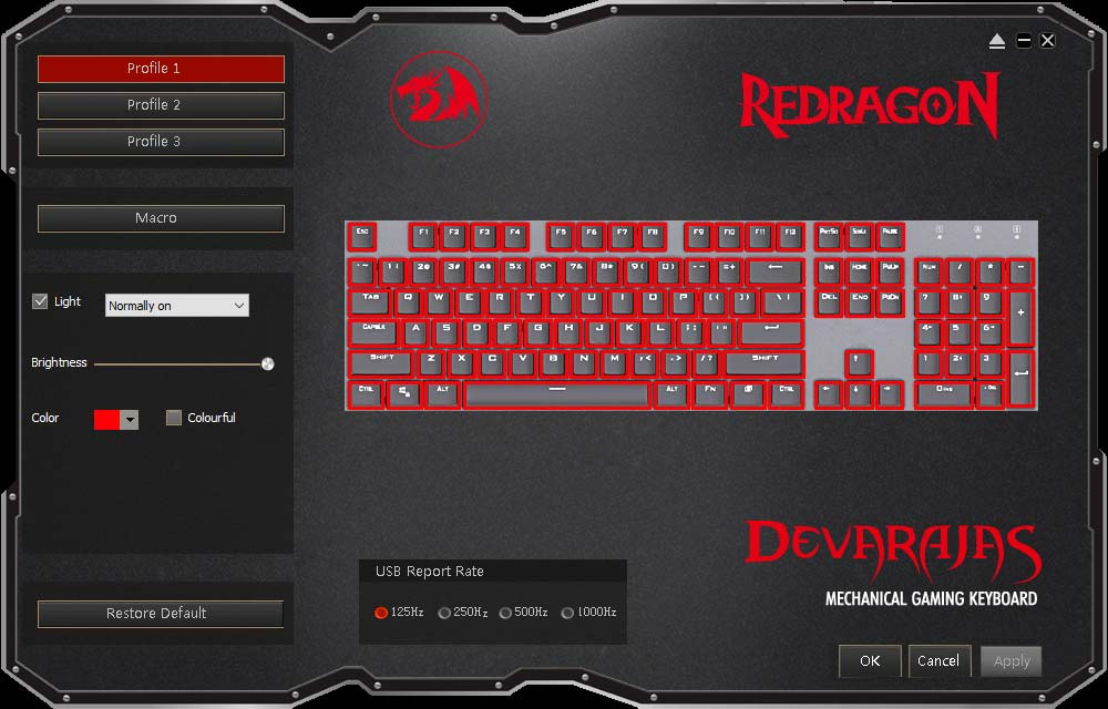 RedDragon Keyboard Software.