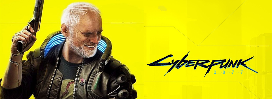 Harold Hiding the Cyberpunk 2077 pain.